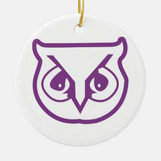Sigma Pi Owl Color Christmas Ornament