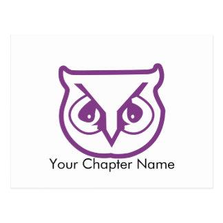 Sigma Pi Owl Color Postcard
