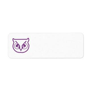 Sigma Pi Owl Color Return Address Label