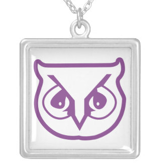 Sigma Pi Owl Color Silver Plated Necklace