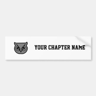 Sigma Pi Owl Gray Bumper Sticker