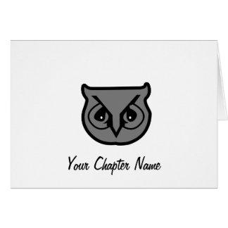 Sigma Pi Owl Gray Card