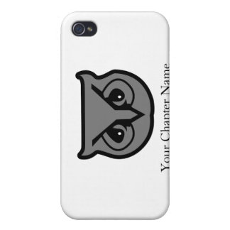 Sigma Pi Owl Gray Case For The iPhone 4