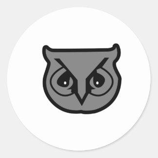 Sigma Pi Owl Gray Classic Round Sticker