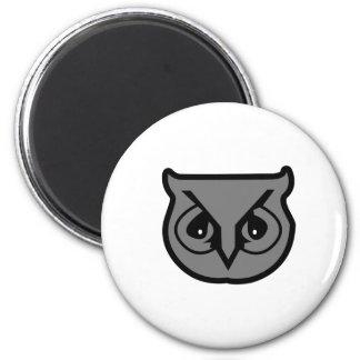 Sigma Pi Owl Gray Magnet