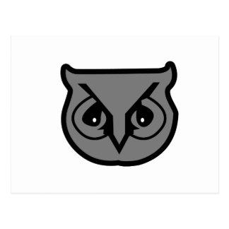 Sigma Pi Owl Gray Postcard