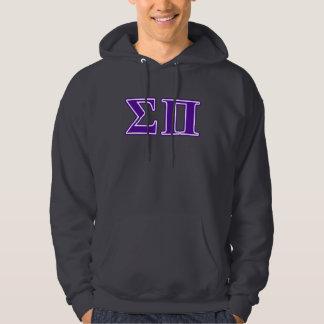 Sigma Pi Purple Letters Hoodie