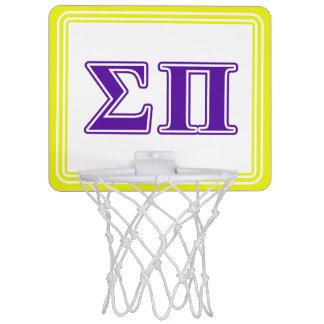 Sigma Pi Purple Letters Mini Basketball Hoop