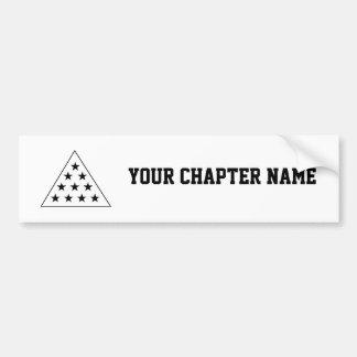 Sigma Pi Pyramid B+W Bumper Sticker