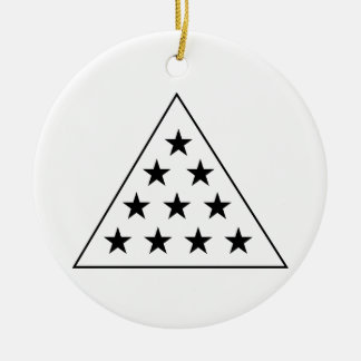 Sigma Pi Pyramid B+W Christmas Ornament
