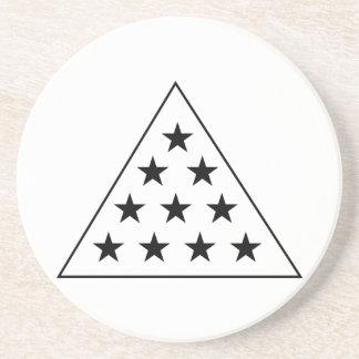 Sigma Pi Pyramid B+W Coaster
