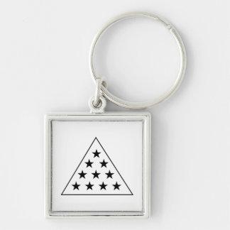 Sigma Pi Pyramid B+W Key Ring