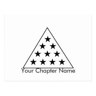 Sigma Pi Pyramid B+W Postcard