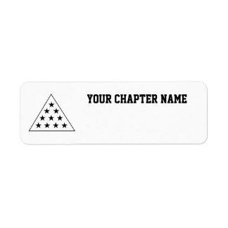Sigma Pi Pyramid B+W Return Address Label