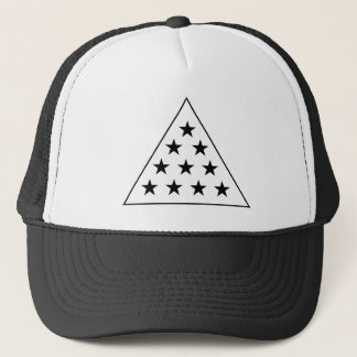Sigma Pi Pyramid B+W Trucker Hat