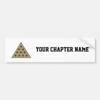 Sigma Pi Pyramid Gold Bumper Sticker