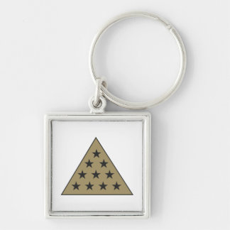 Sigma Pi Pyramid Gold Key Ring