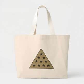 Sigma Pi Pyramid Gold Large Tote Bag
