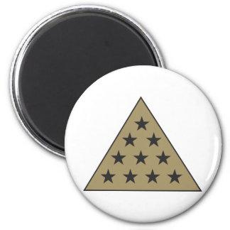 Sigma Pi Pyramid Gold Magnet