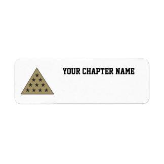Sigma Pi Pyramid Gold Return Address Label