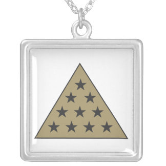 Sigma Pi Pyramid Gold Silver Plated Necklace