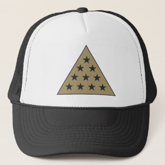 Sigma Pi Pyramid Gold Trucker Hat
