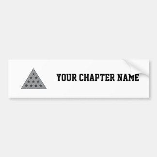 Sigma Pi Pyramid Gray Bumper Sticker