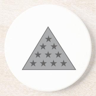 Sigma Pi Pyramid Gray Coaster