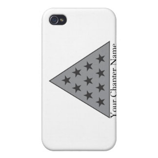 Sigma Pi Pyramid Gray iPhone 4 Covers