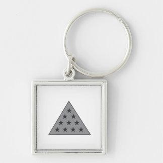 Sigma Pi Pyramid Gray Key Ring