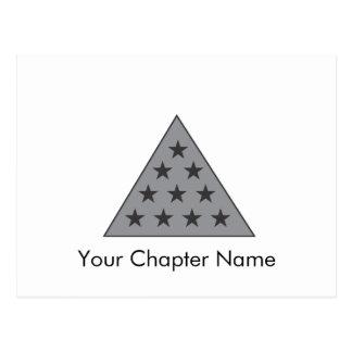 Sigma Pi Pyramid Gray Postcard