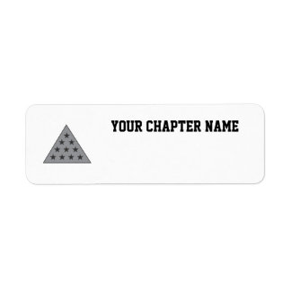 Sigma Pi Pyramid Gray Return Address Label