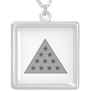 Sigma Pi Pyramid Gray Silver Plated Necklace