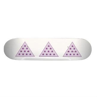 Sigma Pi Pyramid Purple 21.3 Cm Mini Skateboard Deck