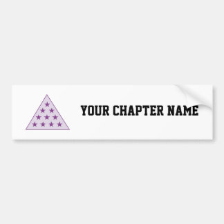 Sigma Pi Pyramid Purple Bumper Sticker