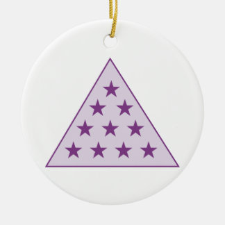 Sigma Pi Pyramid Purple Christmas Ornament