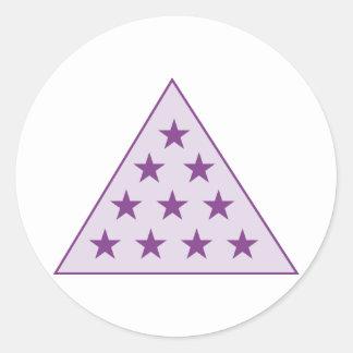 Sigma Pi Pyramid Purple Classic Round Sticker