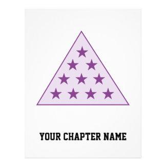 Sigma Pi Pyramid Purple Flyer
