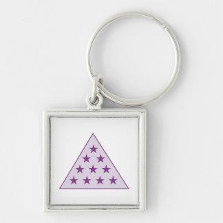 Sigma Pi Pyramid Purple Key Ring