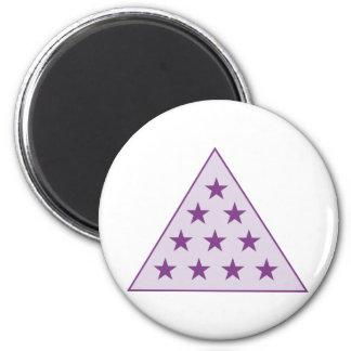 Sigma Pi Pyramid Purple Magnet