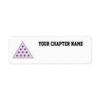 Sigma Pi Pyramid Purple Return Address Label