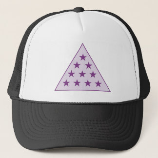 Sigma Pi Pyramid Purple Trucker Hat
