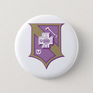 Sigma Pi Shield 2-Color 6 Cm Round Badge