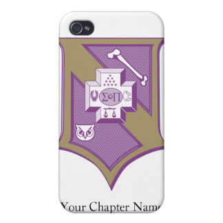 Sigma Pi Shield 2-Color Cases For iPhone 4