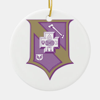 Sigma Pi Shield 2-Color Christmas Ornament
