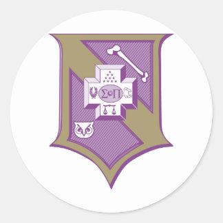 Sigma Pi Shield 2-Color Classic Round Sticker
