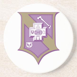 Sigma Pi Shield 2-Color Coaster