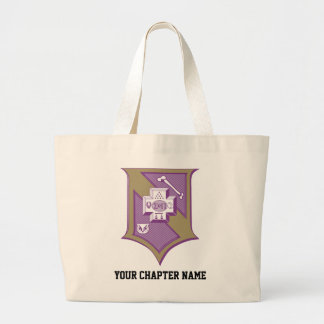 Sigma Pi Shield 2-Color Large Tote Bag
