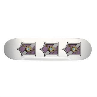 Sigma Pi Shield 4-Color 21.6 Cm Skateboard Deck