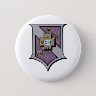 Sigma Pi Shield 4-Color 6 Cm Round Badge